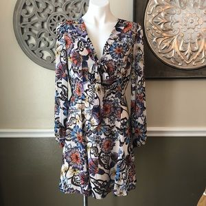 Betsy Johnson long sleeve floral dress